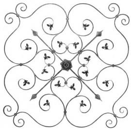 Barokový ozdobný stredový element 16 x 8 mm