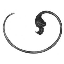 Ozdobné céčko Ø 10 mm s listom pravým