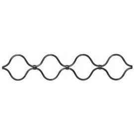 Vlnovkový ozdobný profil 16 x 8 mm