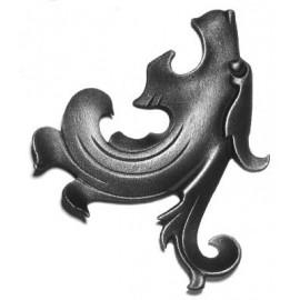 Ozdobná hlava draka- ľavá