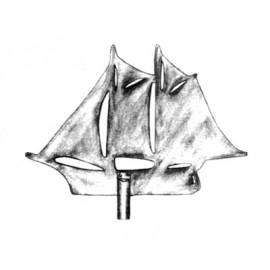Zástava plachetnice z nereze