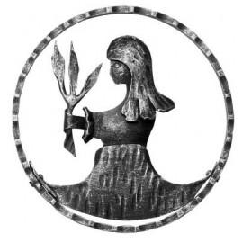 Znamenie - panna - ozdobný element