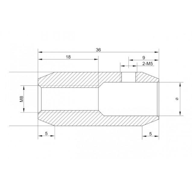 Spojovací konektor 12.2 mm