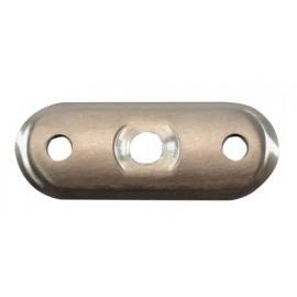 Nerezová platnička pod madlo - plochá