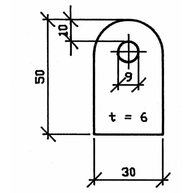 Naváracia spona nerezová 50 x 30 x 6 mm