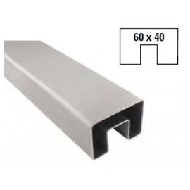 Nerezový U profil 60 x 40 x 6000 mm