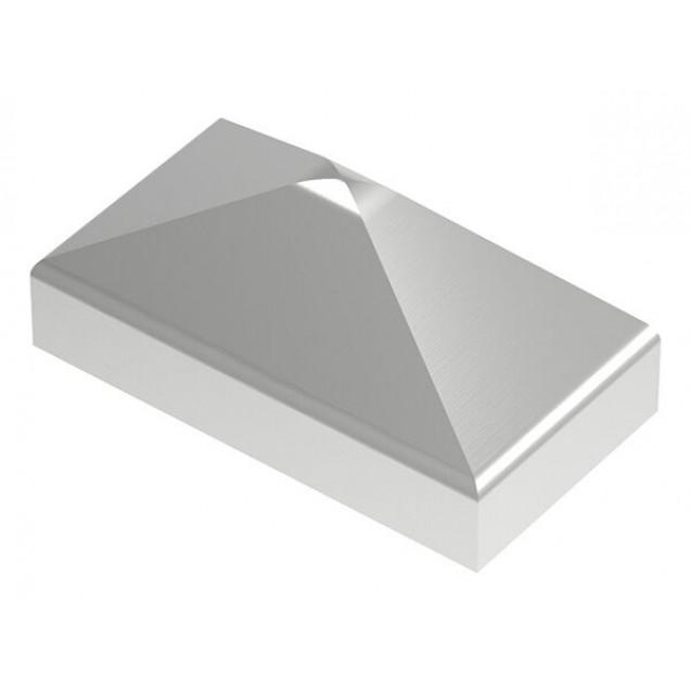 Nerezová pyramídová krytka 40 x 20 mm, zabrúsené rohy V4A