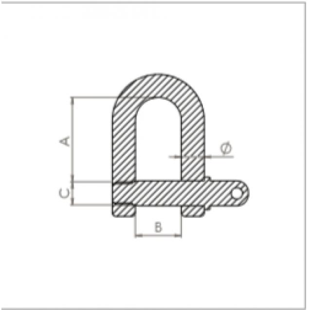Vidlica Ø 6 mm