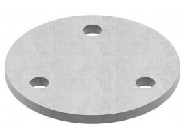 Oceľové kotviace platničky okrúhle 3-dierové