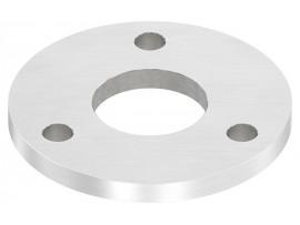 Nerezové kotviace platničky okrúhle 4-dierové