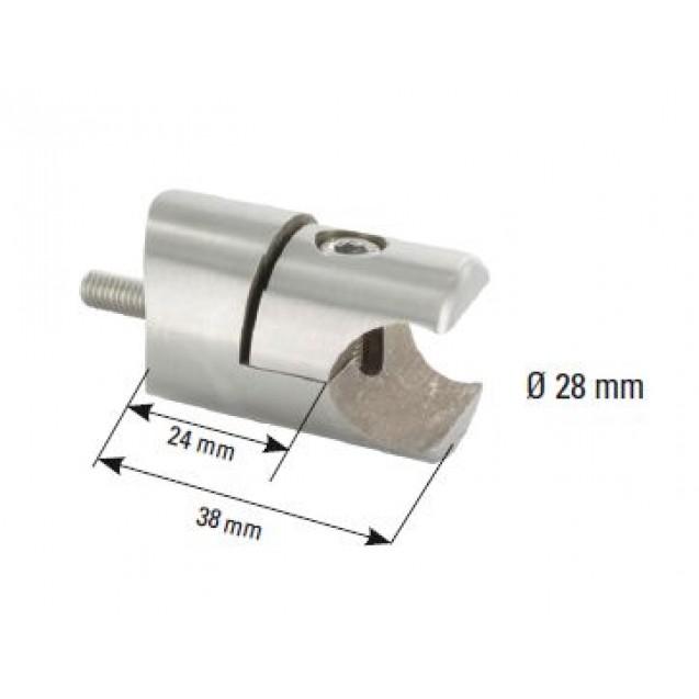 Držiak upínacej trubice 18 mm - plochý