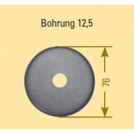 Krycia rozeta oceľová 76 x 13 x 2 mm