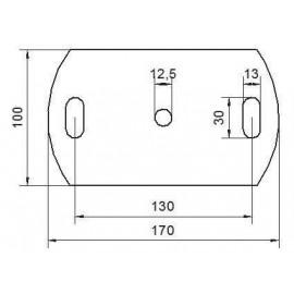 Kotviaca platnička 170 x 100 x 8 mm