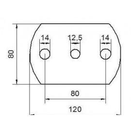 Kotviaca platnička 120 x 80 x 8 mm